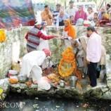 Nowdal Teerath Yatra Puja Held in Tral Srinagar