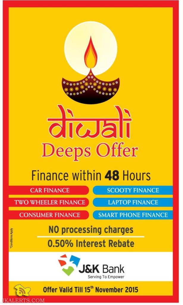 JKBANK Finance Diwali Deeps offer