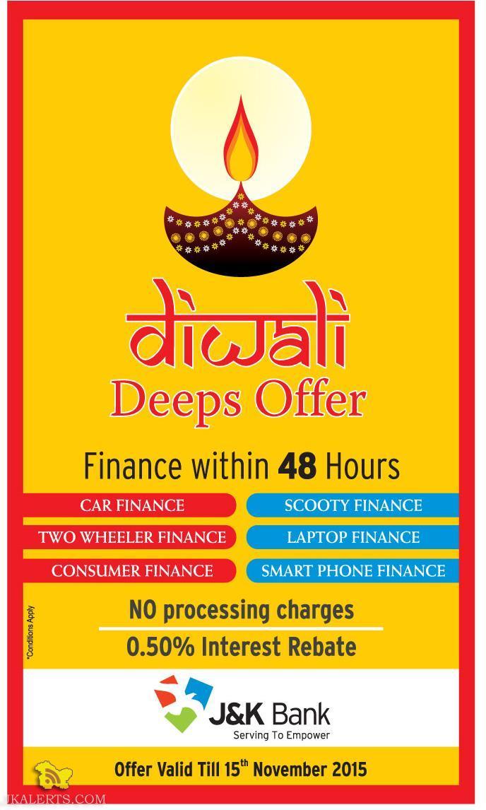 JKBANK Finance Diwali Deeps offer