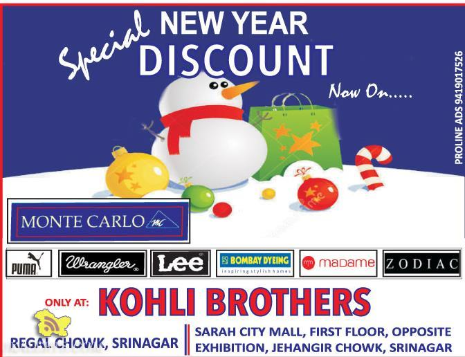 Special Winter sale in Kohli Brothers in Sarah city Mall Srinagar