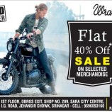 Wrangler flat 40% off in jammu and kashmir