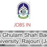 Baba Ghulam Shah Badshah University Rajouri (J&K) Recruitment 2017
