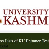 JRF, TECHNICAL ASSISTANT JOBS UNIVERSITY OF KASHMIR