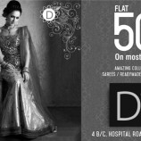 DIVA FLAT 50% OFF ON LEHANGAS / SAREES / READYMADE SUITS