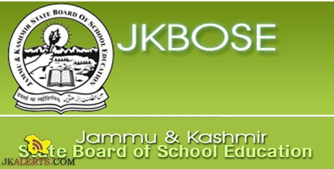 JKBOSE CLASS 10th Datesheet Jammu Division Private Candidates