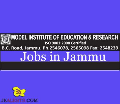 Transport Officer, Drivers jobs in Model Institute of Education and Research