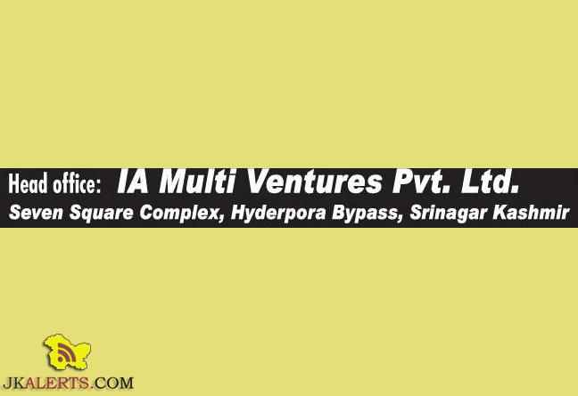 Jobs in IA Multi Ventures Pvt Ltd