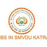 Shri Mata Vaishno Devi Univresity SMVDU Kakryal, Katra Recruitment