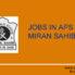 PGT , TGT ,Computer Laboratory Technician, Nurese Jobs in APS Miran Sahib
