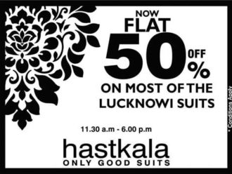 Flat 50% off on Hastkala on all Suits