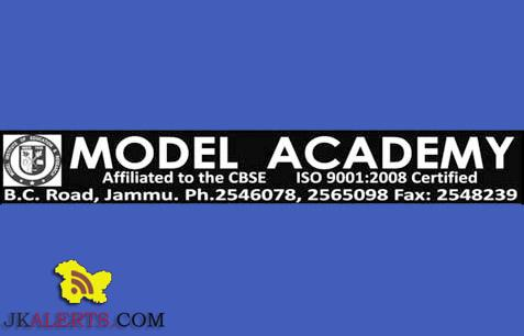 WALK -IN- INTERVIEW IN MODEL ACADEMY JAMMU ,MIER Teaching jobs