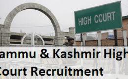 High Court of Jammu and Kashmir Merit Lists of Steno Typists Jammu And Kashmir Province