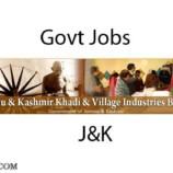 J&K Khadi & Village Industries BoardWritten Test Schedule