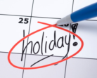 List of the holidays for the calendar year -2017
