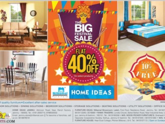 The Big Festival Navratra Sale Flat 40% off Home Ideas
