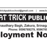 Jobs in Hat Trick Public School Srinagar