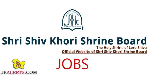 Shri Shiv Khori Shrine Board SSKSB Jobs Notification