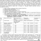 Admission open Para Medical Training Courses for the session 2017-18