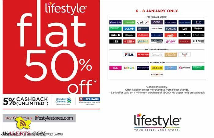 Lifestyle Flat 50% off Wave Mall Jammu