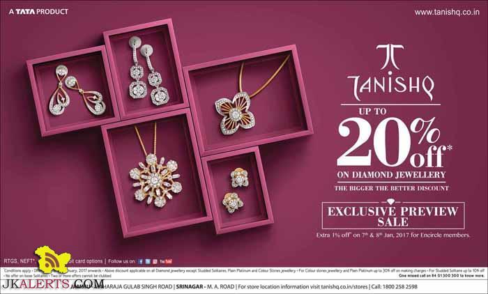 Tanishq upto 20% off on Diamond jewellery