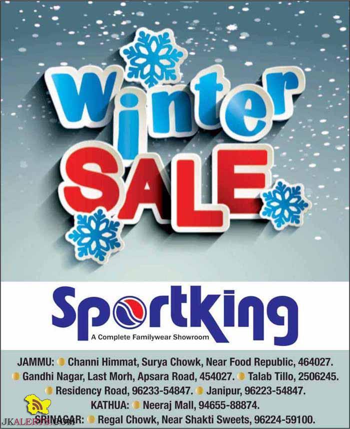 Sportking Winter Sale in Jammu, Kathua , Srinagar