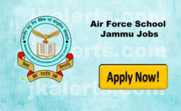 Air Force School Jammu Recruitment 2018