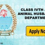 Provisional Select list Class IV Posts in District Sheep Husbandry Department