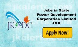 J&K State Power Development Corporation Ltd JKSPDC Recruitment 2018