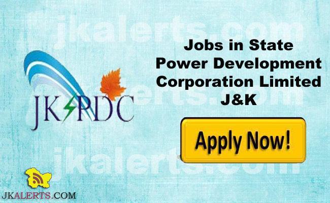 Jobs in State Power Development Corporation Limited J&K
