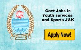 YOUTH SERVICES & SPORTS OFFICER BANDIPORE RECRUITMENT Rehbar-e-Khel 128 Posts