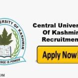 Central University of Kashmir Walk in interview