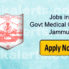GMC Jammu Result of Social Worker and Data Entry Operator