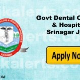 Govt Dental College and Hospital Srinagar Selection list for Class IV Posts