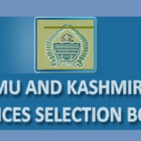 JKSSB Selection list of candidates for Various post