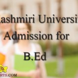 Extension of Date for Submission of Online Application Form B.Ed. (Kashmir)