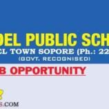 MODEL PUBLIC SCHOOL MODEL TOWN SRINAGAR JOBS