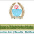 JKSSB Selection List of various posts