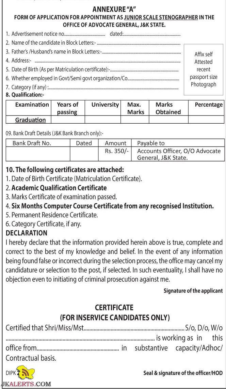 application-form-Junior-Stenographer Jk Bank Job Online Form on movie cast, movie louise, jason statham, dvd cover, description askari, vancany applicationfor fild supervisor, model covering letter for,