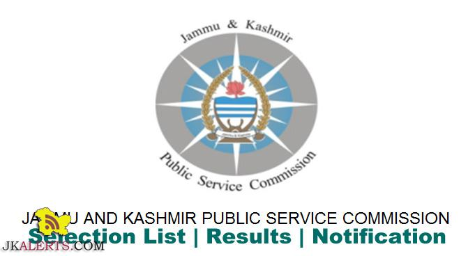 JKPSC Interview schedule for the post of Lecturer