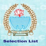 Selection List of candidates for Class-IV Posts in State Motor Garages Department (State Cadre).