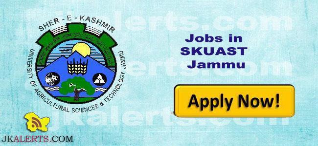 Skilled worker jobs in SKUAST Jammu