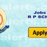 TEACHING JOBS IN R. P. SCHOOL