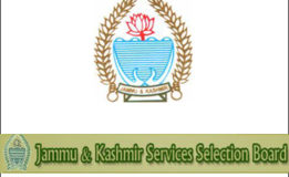 JKSSB Selection List of the candidates for the post of Accounts Assistant,Receptionist,Data Entry operators, Sub-Inspector, Inspector