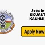 SKUAST Kashmir Walk-in-Interview