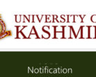 Kashmir University Application form, Admission Notification for various courses