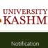Kashmir university Interview Notification Content Manager, Lecturers