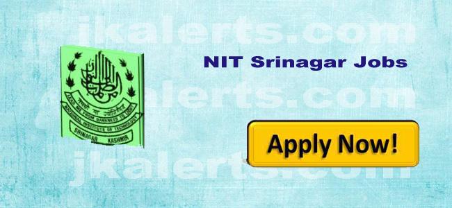 NIT SRINAGAR RECRUITMENT FOR FACULTY POSITIONS