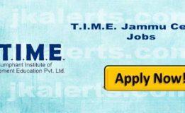 T.I.M.E. India's largest training institute Jammu Jobs