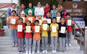Award ceremony held at Jammu Sanskriti School, Jammu